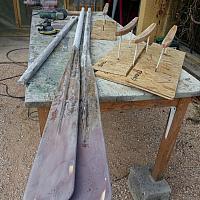 Rames de Pointu Toulonnais en réparation