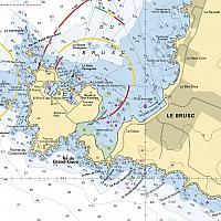 Carte marine de la Lagune du Brusc (extrait)