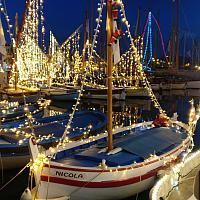 Illumination des pointus de Sanary-sur-mer